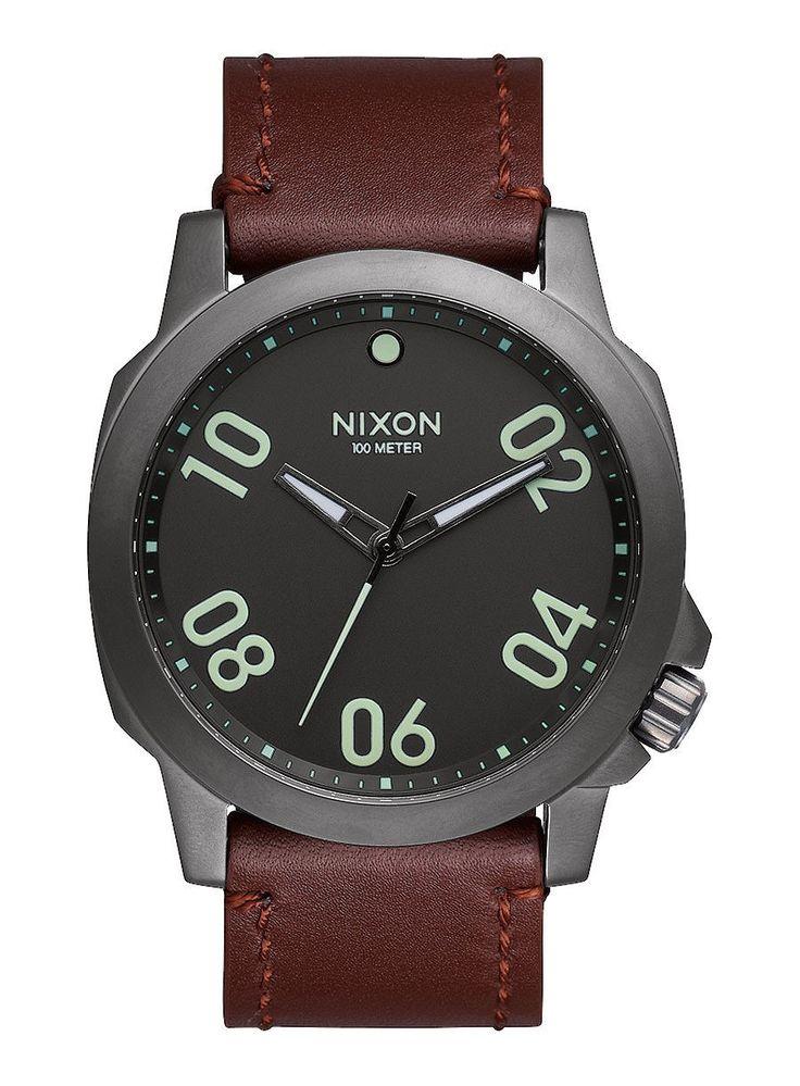 Reloj Nixon Ranger 45 Leather Gunmetal Dark Brown - Relojes - Accesorios - Trakan