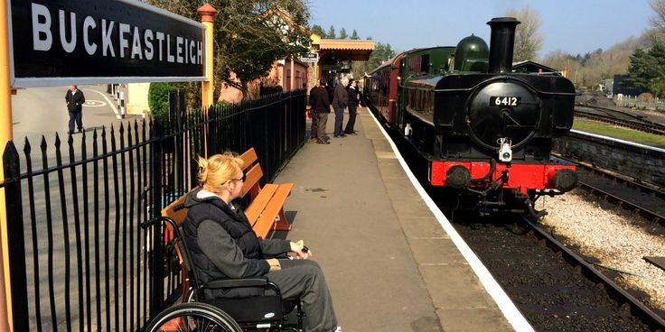 A Ride on an Accessible Steam Train with South Devon Railway. >>> See it. Believe it. Do it. Watch thousands of spinal cord injury videos at SPINALpedia.com