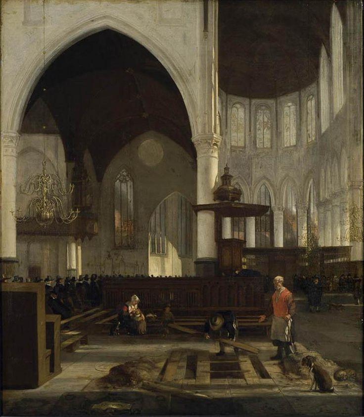 Emanuel de Witte, Intérieur de la Oude Kerk d'Amsterdam (1655, Musée des Beaux-Arts de Strasbourg)