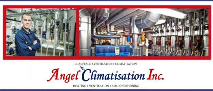 HVAC Contractor operating from the West Island area of Montréal, Angel Climatisation Inc. provides installation, maintenance and repair services to residential and light commercial clients in the field of heating, air conditioning and ventilation. With our full-line of products and services, you can be assured that your home or  business HVAC needs will be met with promptly and professionally.We offer annual scheduled maintenance service to insure greater operating efficiency, economy and…
