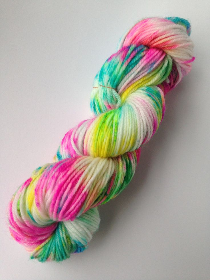 A personal favourite from my Etsy shop https://www.etsy.com/au/listing/450932030/crazy-rainbow-100-wool-hand-dyed