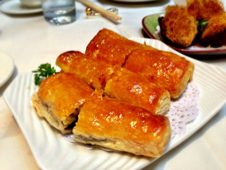 BBQ Pork Pastry at our first stop on the Guilty Pleasures Gourmet Tour, Kirin Restaurant. http://foodietours.ca/photo-guide-dim-sum-kirin-restaurant/