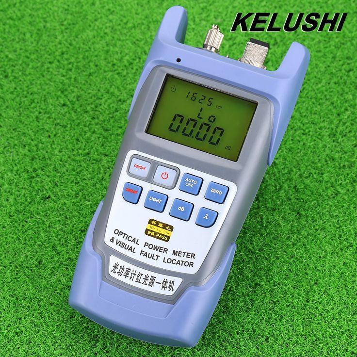 KELUSHI All-in-one FTTH סיב האופטי Power Meter-70 ל + סיבי 10dbm ו 10 mw 10 km כבל אופטי בודק חזותי תקלת Locator