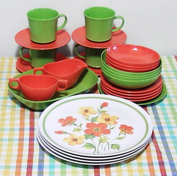Vintage Dinnerware Set for 2 - Marigold Medley   Vintage dinnerware Marigold and Dinnerware & Vintage Dinnerware Set for 2 - Marigold Medley   Vintage dinnerware ...