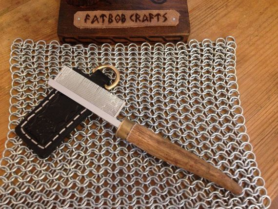 Handmade antler handled Beard or Mustache Comb by FatbobCrafts, £14.50
