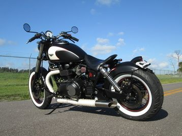 Bad Assed Triumph Motorcycles | 2003 Triumph Bonneville America Turned Bad-Ass Bobber