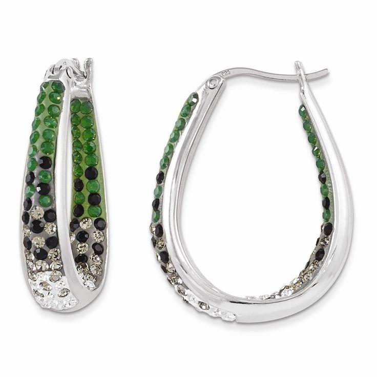 Sterling Silver Swarovski Elements Philadelphia Spirit Earrings