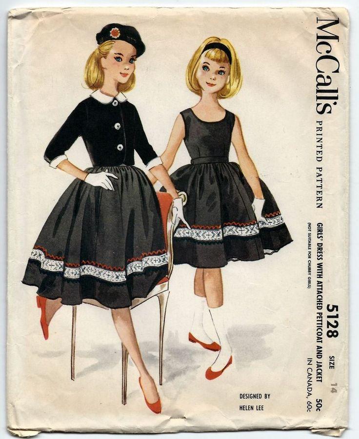 1950s Vintage Sewing Pattern McCalls 5128 Helen Lee Sleeveless Dress & Jacket