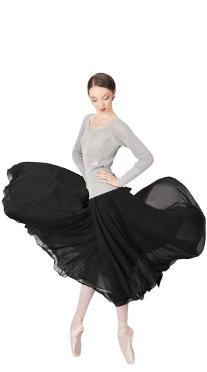 Long sleeved fancy top & Rehearsal Skirt by Repetto - Collection fall-winter 2015