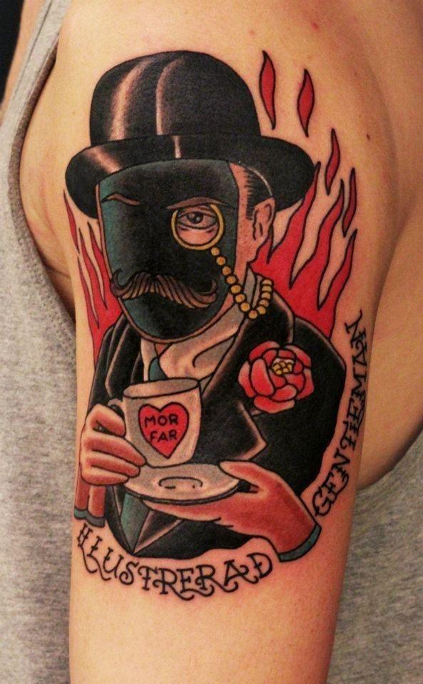 Traditional Gentleman Tattoo