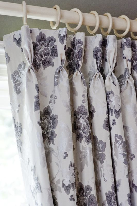 Luxurious ready made, French pleat curtains, with superior fleece lining. Includes co-ordinating tassel tiebacks.