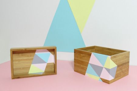 relooker des boites, triangles, DIY