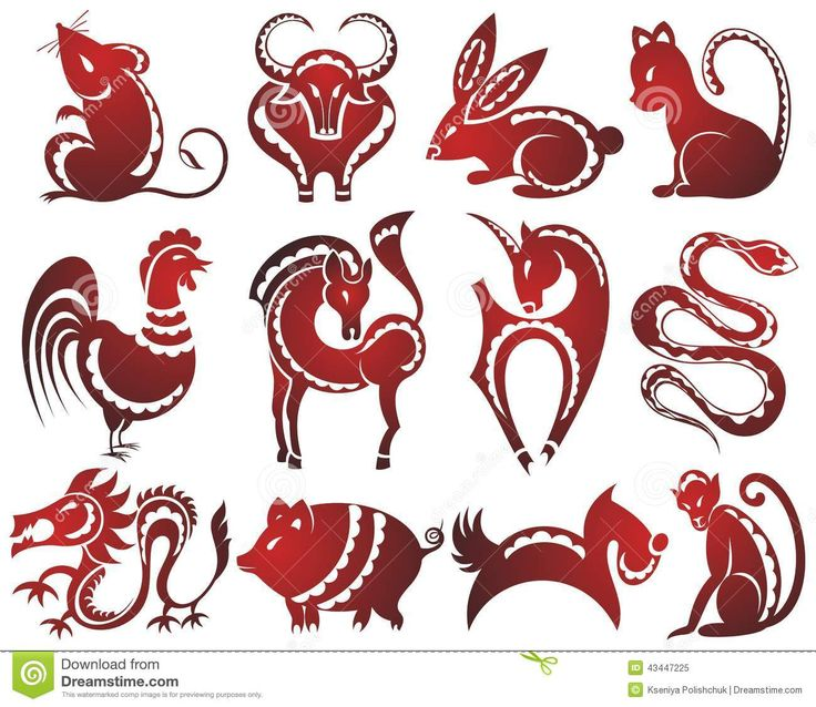 Chinese Zodiac Signs Stock Vector - Image: 39125382