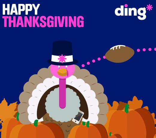 Happy Thanksgiving from all of us at ding*!! www.ding.com
