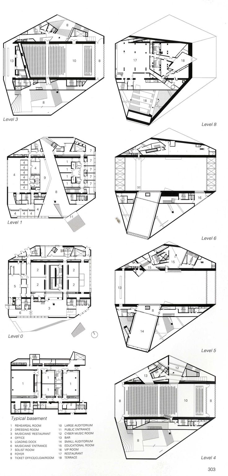 Architectural Plans - Concert Hall