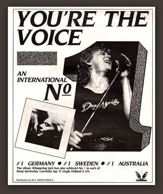 Singer John Farnham vintage print ad ephemera by catchingcanaries
