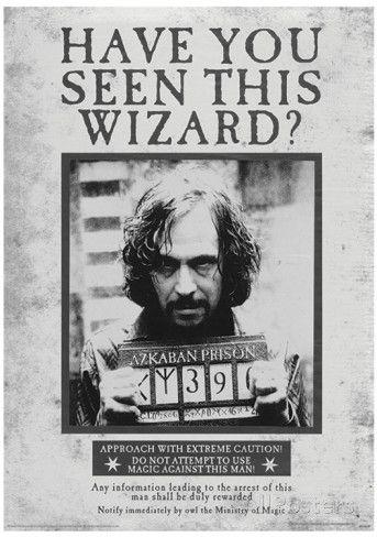 Harry Potter (Sirius Wanted) Movie Poster Impressão de alta qualidade