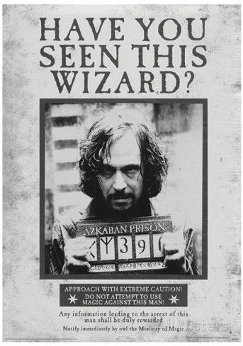 Harry Potter (Sirius Wanted) Movie Poster Masterprint at AllPosters.com