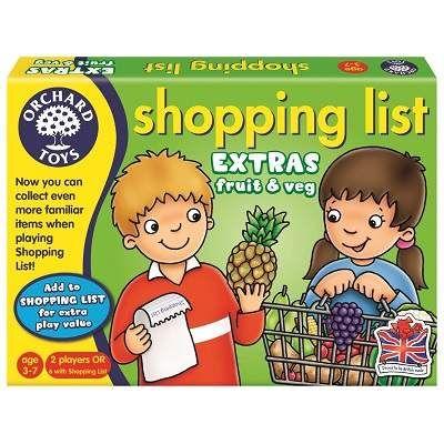 Joc educativ lista de cumparaturi fructe si legume, Orchard Toys 25 lei