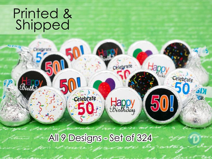 Turning 50? Throwing a 50th Birthday Celebration? These 50th Birthday Party Stickers can help bring that extra something special to your favors and decorations!  OVERVIEW: **Each order includes 324 self-adhesive printed stickers. All you have to do is peel and stick-super easy! (No cutting, no hole punching, no trying to print them on your own.) **All stickers are pre-cut and laser printed on flat sheets preventing running ink and avoiding curling stickers. **Each sticker measures 0.75 in…