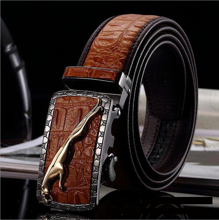2016 Automatic Buckle Genuine Leather Designer Belts For Men Quality Belts Luxury Riem Cinture Uomo Ceintures Pour Luxe Marque