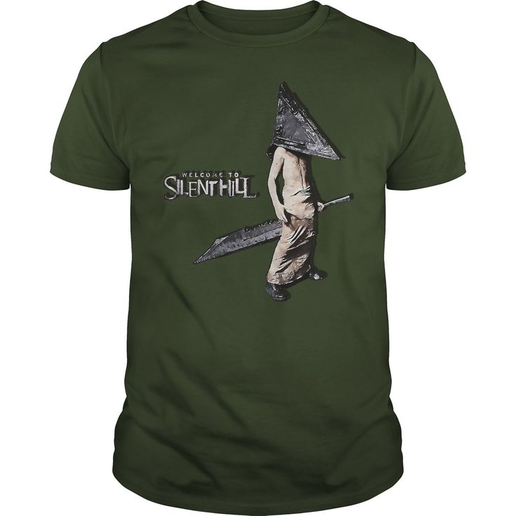 Welcome to Silent Hill Pyramid Head cartoon artwork sword horror games scary spooky theme