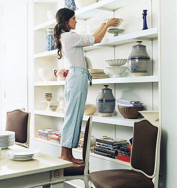 Katie Lee Joel Built In Dining Shelves