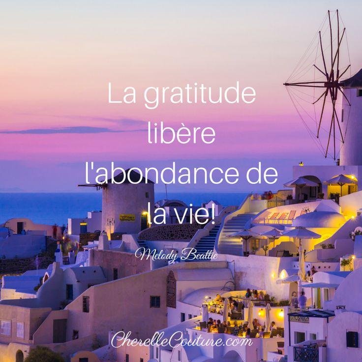 Melody Beattie - La gratitude libère l'abondance de la vie ...