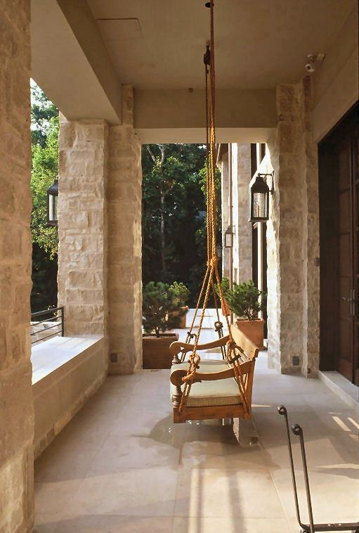 Texas Limestone Wrap Around Porch My Inspiration And