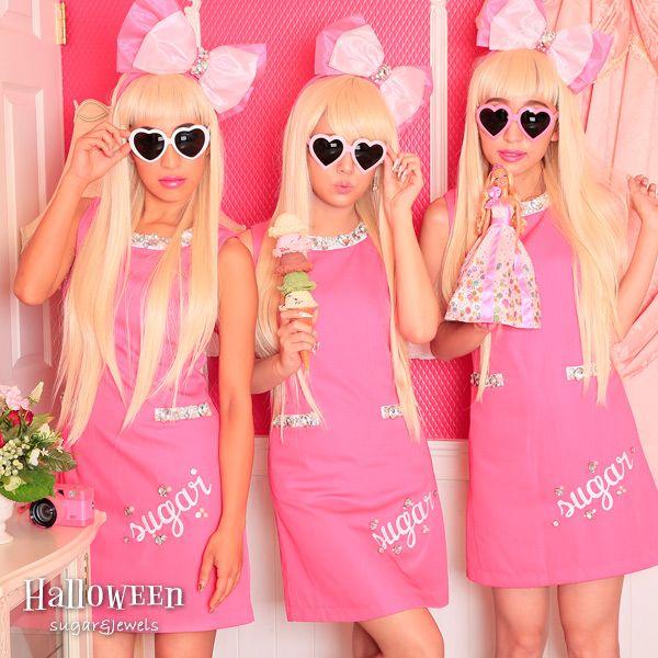 【Jewelsジュエルズ】ハロウィン衣装コスプレコスチューム女性ハロウィンコスチュームハロウィン衣装2点セットドレスアップドールセット(jSB1607)5722SB/sugar【あす楽対応】キャバ嬢