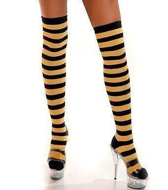 Полосатые желто-черные чулки. Купить с экспресс-доставкой по России — http://fas.st/7FGfI