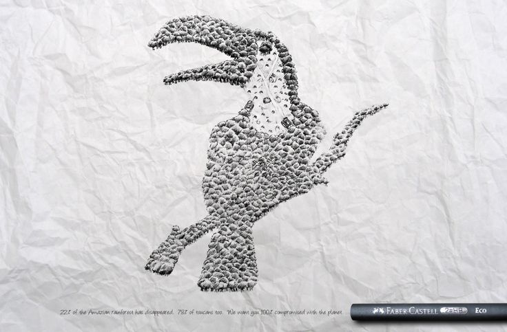 Headvertising, Faber-Castell - Protect The World Advertising...