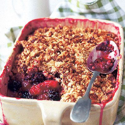 I love blackberry and apple Crumble but I also like to add some raspberries in there too. Served with Cornish or vanilla ice cream.