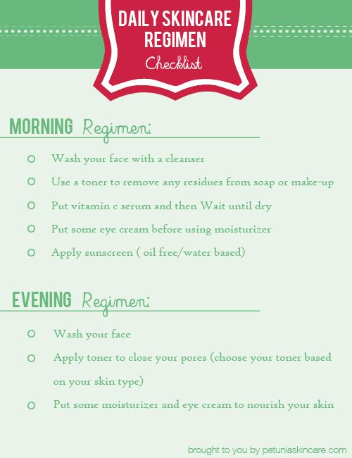 Best  Daily Beauty Routine Checklist Ideas On