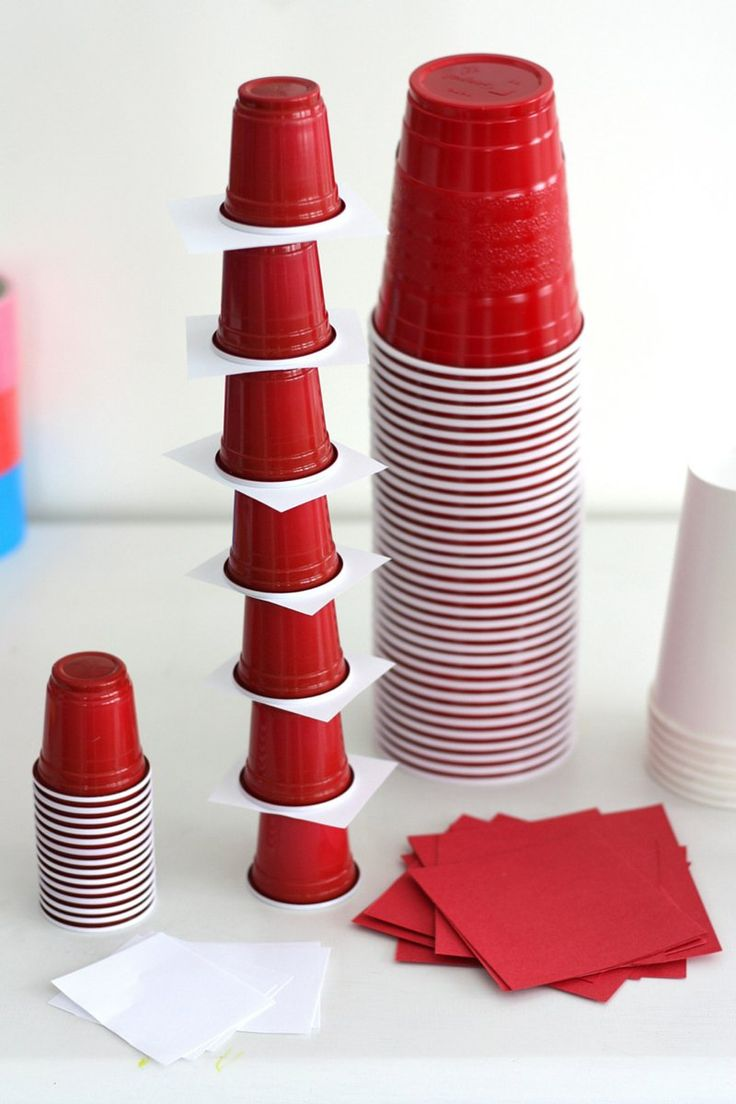 Dr Seuss STEM Challenge Supplies Cup Stacking Challenge