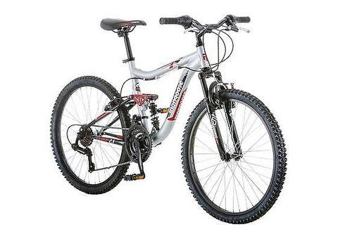 24-Inch, Mongoose Ledge 2.1 Boys' Kids Mountain Bike Bicycle 21-Speed, - 1/1