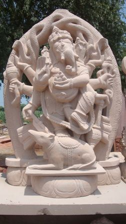 Stone Carved Ganesha Sculpture