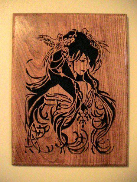Geisha scrollsaw cutting