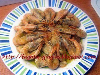 Γαρίδες αχνιστές με σκόρδο