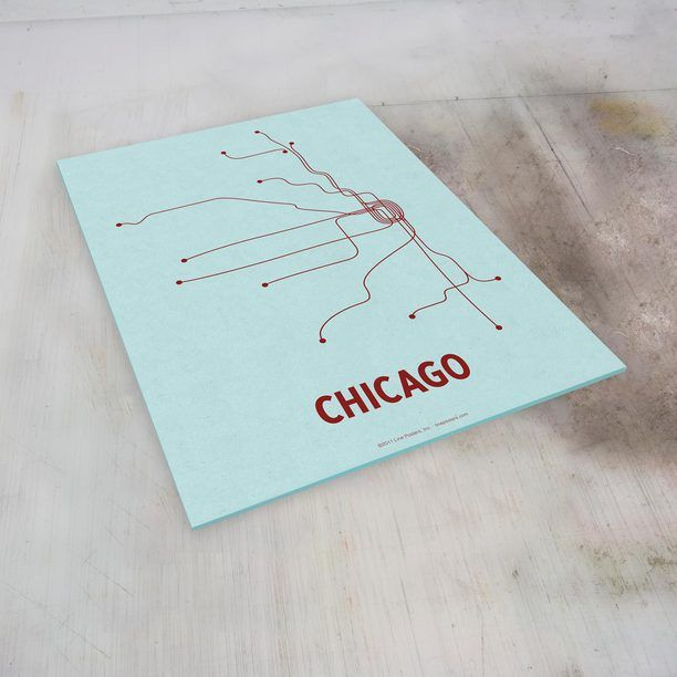 Chicago Transit Screen Print