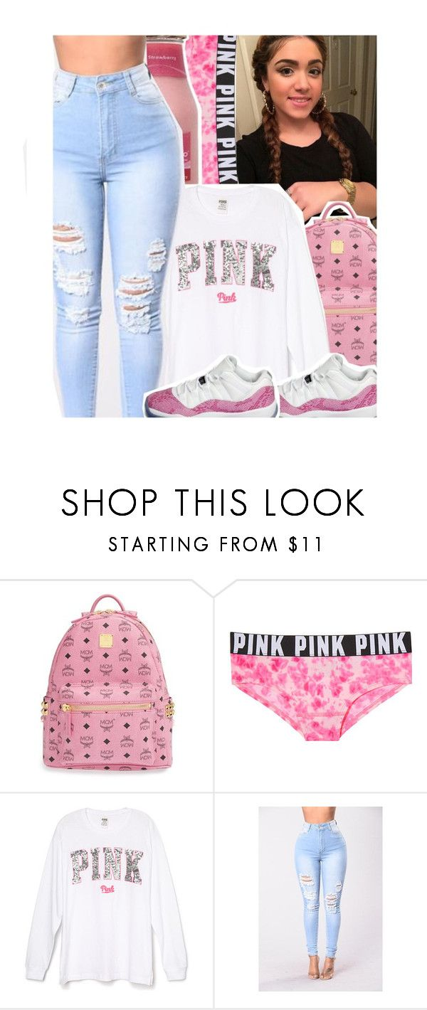 """""""PINK"""" by qveen-jen ❤ liked on Polyvore featuring MCM, Victoria's Secret PINK and NIKE"""