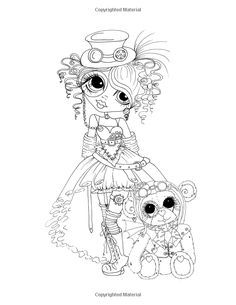 Sherri Baldy My-Besties Steampunk Coloring Book Amazon.com