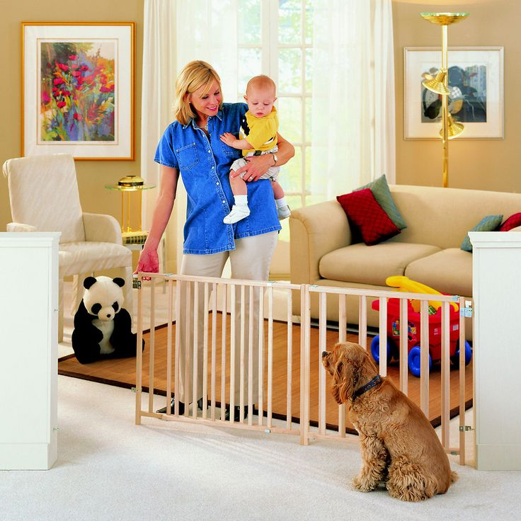 North States Wood Extra-Wide Swing Pet Gate for Dogs & Cats