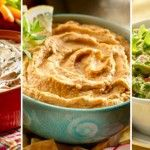 Dips Faciles: Jamaiquino, Tomate/Garbanzo y Chipotle/aguacate