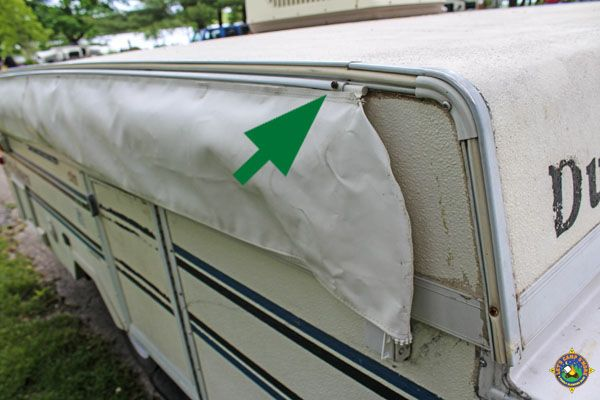 How To Secure An Rv Awning Bag To Keep It From Flapping Around Camper Awnings Awning Rv