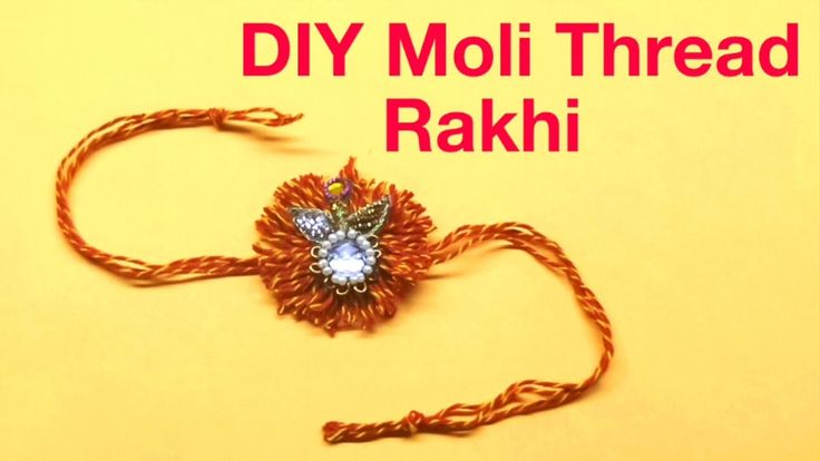 How to make Easy Moli Thread Rakhi for Raksha Bandhan.Moli Rakhi Design. Indian Rakhi Design