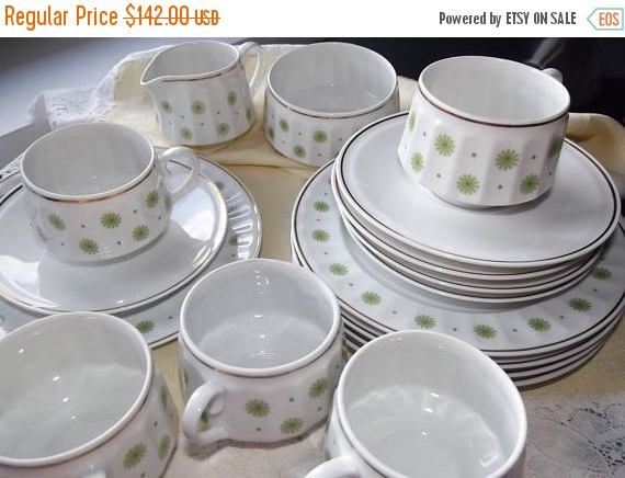 Summer sale 20% Arabia set Roksana. Espresso set Arabia.
