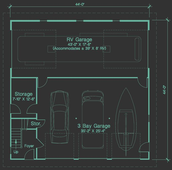 House Plans With Rv Garages | Shop House | Pinterest | Rv garage ...