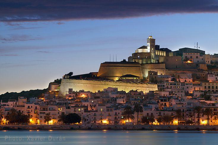 Ibiza Dalt Vila at dusk