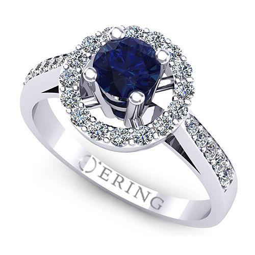 Inel logodna L77ASF inel cu diamant si safir